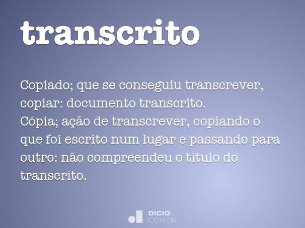 transcrito