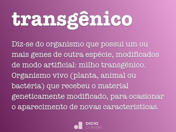 transg�nico