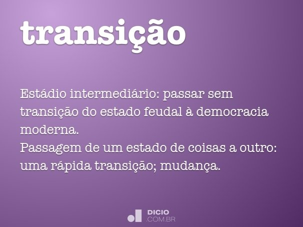 transi��o