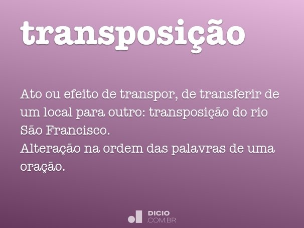 transposi��o