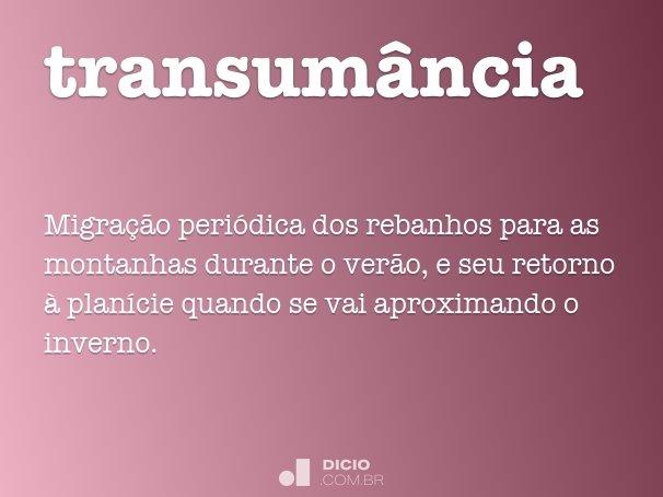 transum�ncia