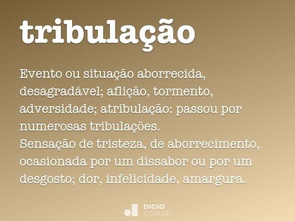 tribula��o