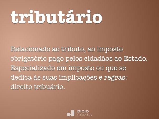 tribut�rio