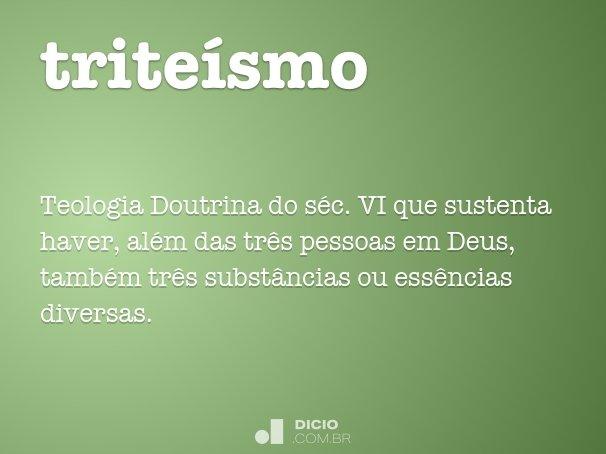 triteísmo