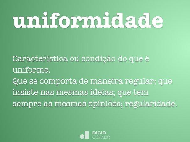 uniformidade
