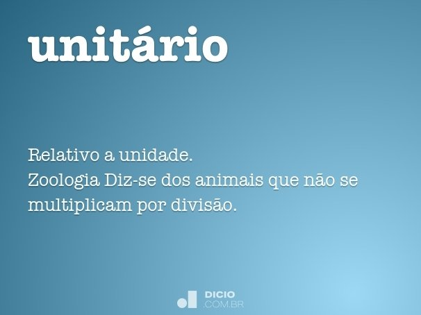 unitário