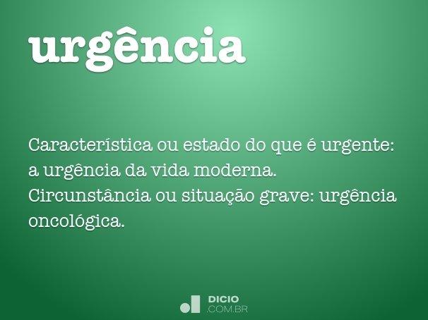 urgência