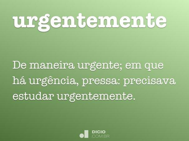 urgentemente