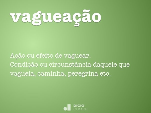 vaguea��o
