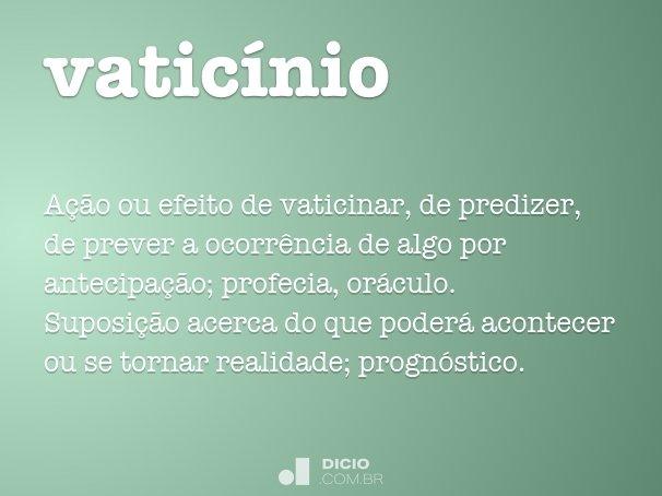 vaticínio