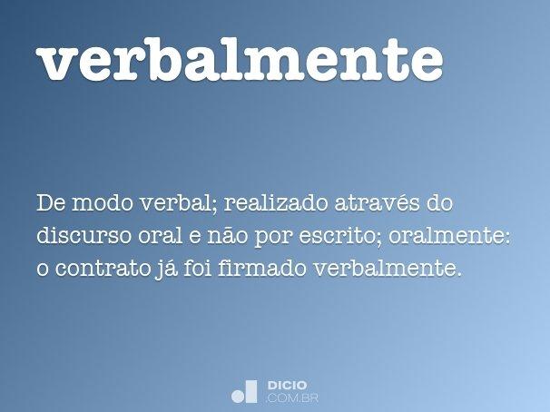 verbalmente