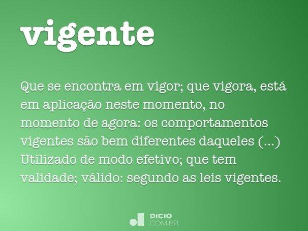 vigente