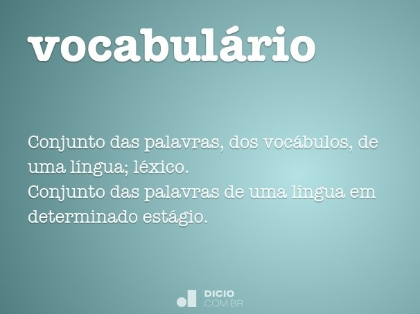 vocabul�rio